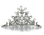 Bridal Headpieces 4 Ct Natural Certified Diamond Pearl 925 Sterling Silver Antique Victorian